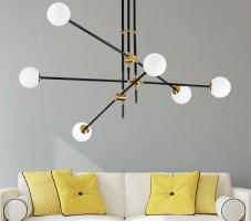 Đèn chùm phòng khách đơn giản - Lựa chọn tối ưu cho không gian hiện đại và diện tích nhỏ