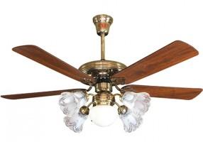Quạt trần cánh gỗ đèn chùm - Xu hướng trang trí nội thất hiện đại