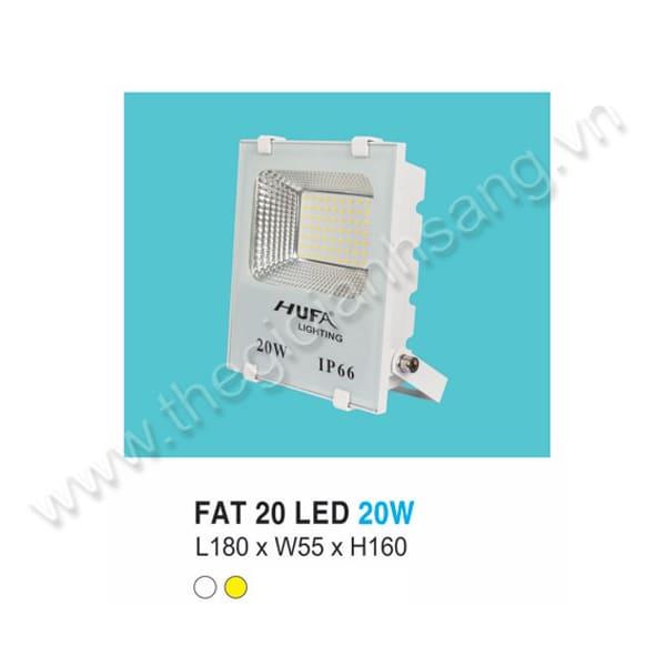 Đèn pha LED 20W HP8-FAT20