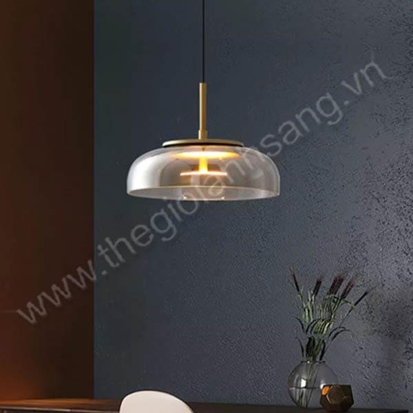 Đèn thả thủy tinh led Ø230mm PH21-THCN197-21-TRA