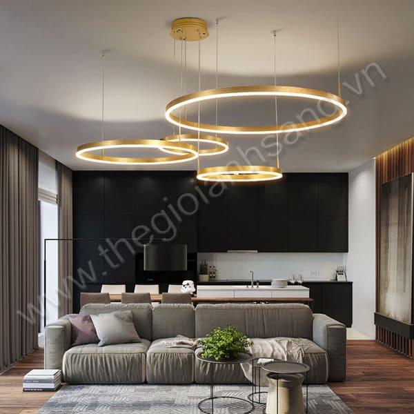 Đèn Thả 4 vòng viền vàng Ø1000mm PH20-TH831A-20