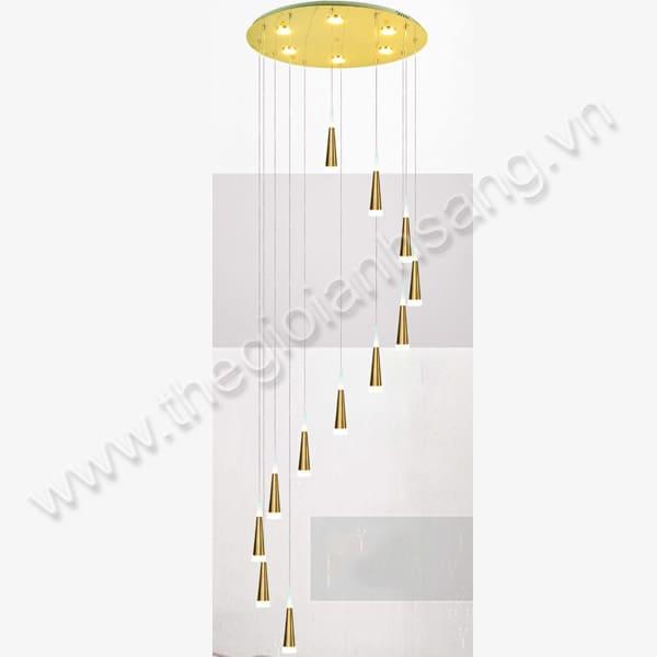 Đèn thả thông tầng Ø500xH2500mm DC20-THD01/12