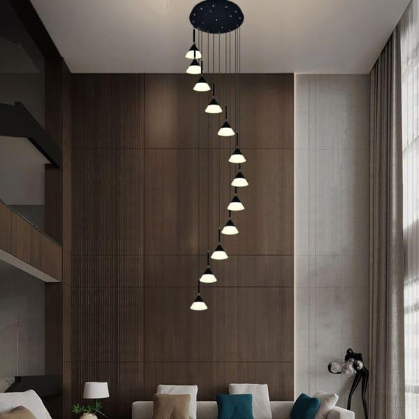Đèn thả thông tầng Ø600xH2800mm HP20-TL66601/12