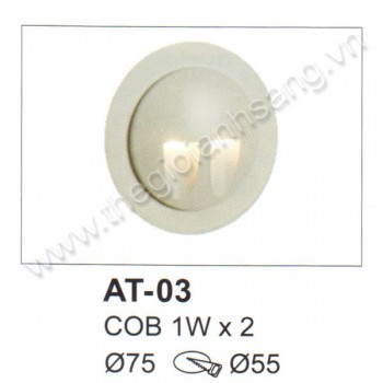 Đèn âm tường, cầu thang LED 2W EC9-AT03