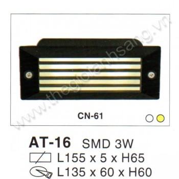 Đèn âm tường, cầu thang LED 3W EC8-AT16