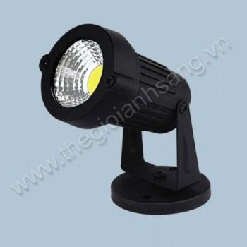 Đèn rọi bãi cỏ LED 5W 3 màu AN8-PC3781Đ