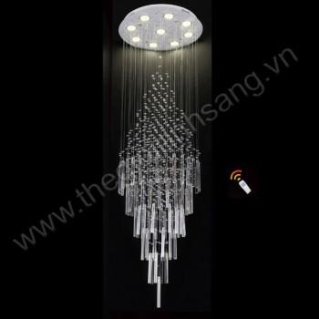 Đèn thả thông tầng led 3 chế độ màu Ø600xH2000mm AN8-TPL6345/600