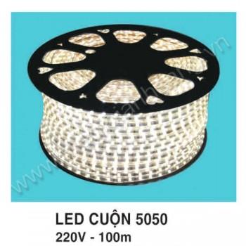 Led cuộn 100m 5050 màu trắng HP9-5050
