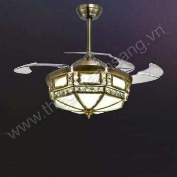 Đèn chùm quạt trần Ø500mm VA9-QT87103
