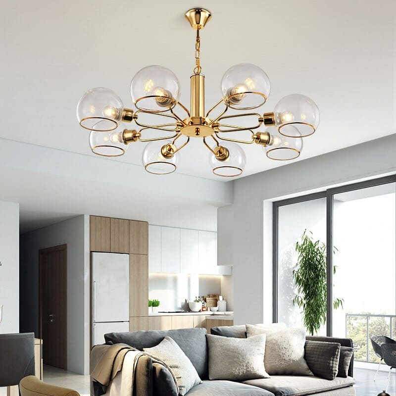 Đèn chùm phòng khách đơn giản cho không gian hiện đại và nhỏ
